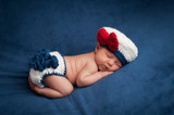 Newborn Baby in Sailor Girl Costume