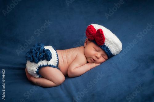 Fototapeten,newborn,baby,mädchen,matrosen