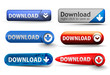 Set of web download icon design element.