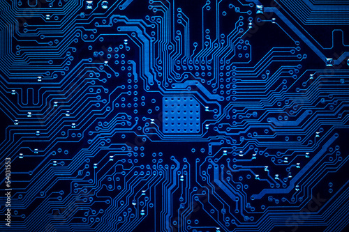 Leinwanddruck Bild Circuit board background
