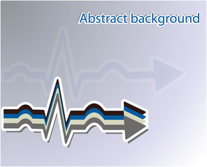 EKG abstract background. Vector illustration.