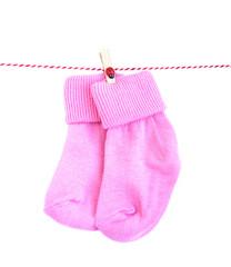 Baby socks on white