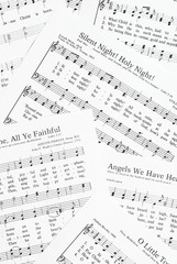 Sheets of Christmas carols.
