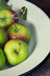 Ripe delicious apples in bowl