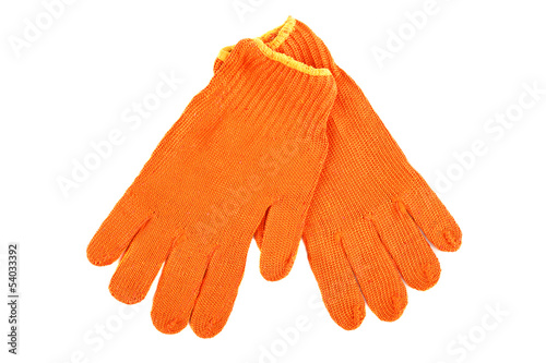 Work gloves isolated on white background.