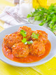 meat ball with tomato sauce