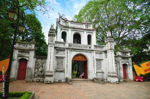 Main entrance gate to the temple of Literature