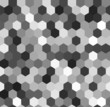 Постер, плакат: Hexagon seamless pattern in shades of grey vector