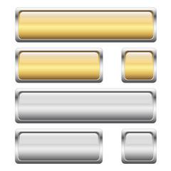 Button Sammlung gold + silber