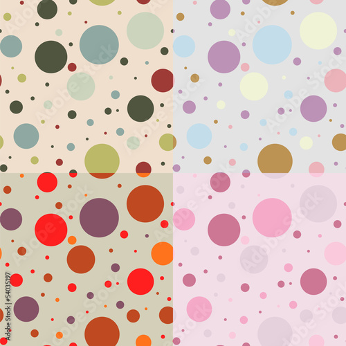 Vintage vector seamless pattern of circles