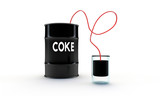 coke in a black barrel