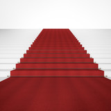Stairs with red carpet