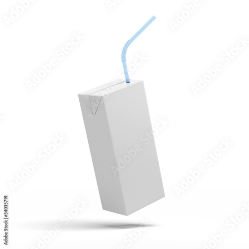 White packaging, box of juice, yogurt, milk