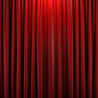 Red closed curtain - 54036150