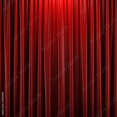 Plexiglas Theater Red closed curtain