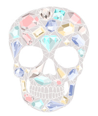 Skull with gemstones pattern