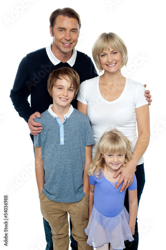 Portrait of a family, studio shot