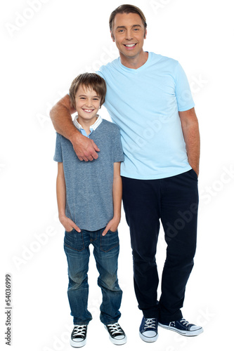 Smiling shot of a father and son