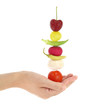 Balanced diet with fruits and vegetables