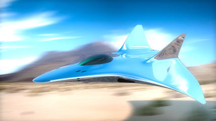 prototype fighter plane in 3d