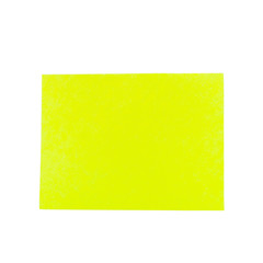 Yellow note Paper isolated on white background