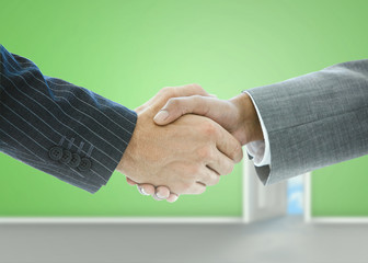 Close up of businessmen handshake
