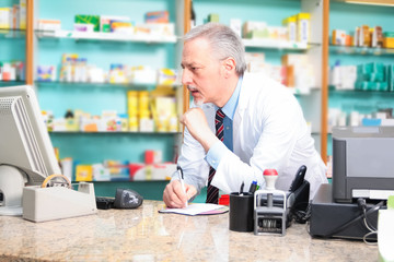 Pharmacist at work