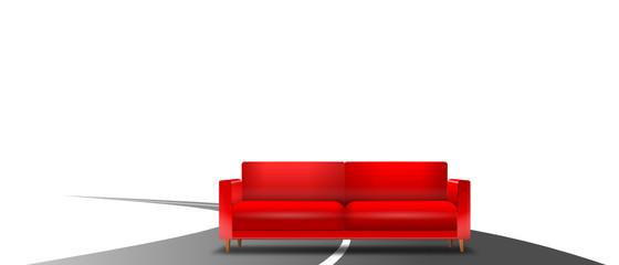 Sofa auf Straße