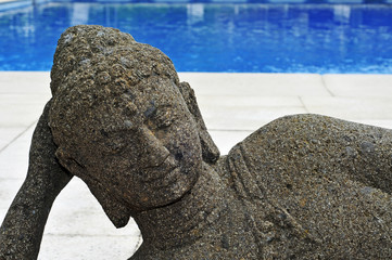 buddhist swimming pool