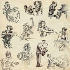 Musicians - An hand drawn illustrations