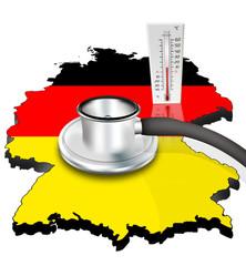 Deutschlandkarte mit Stetoskop