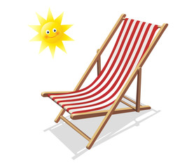 Sonnenstuhl und Sonne