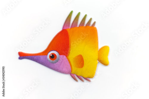 sticker colorful cartoon fish