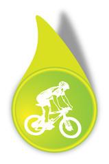 Vektor Fahrrad Button Grün
