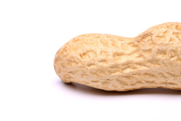 Peanut isolated on a white background close up