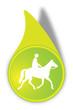 Vektor Pferderennen Button Grün