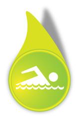 Vektor Schwimmen Button Grün