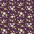 Seamless pattern with small flowers. Vector illustration.