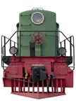 Old green locomotive