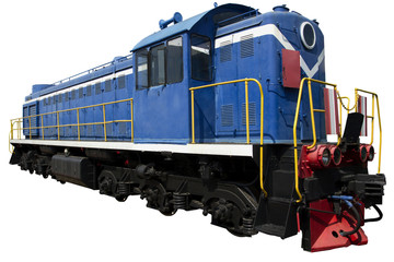 blue locomotive