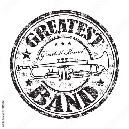 Greatest band grunge rubber stamp