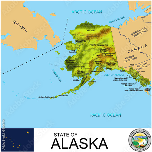 Alaska USA counties name location map background