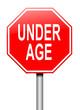 Under age concept.
