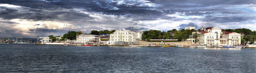 sea bay at Sevastopol city, Crimea, Ukraine