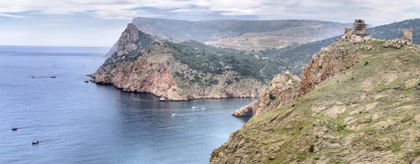 View to Balaklava bay (Balaklava, Crimea, Ukraine)