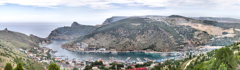 View to Balaklava bay (Balaklava, Crimea, Ukraine)