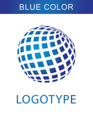 logotype blue color