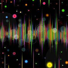 Abstract background. Vector illustration - equalizer.
