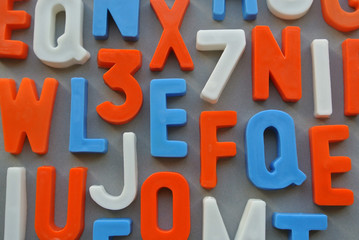 Colorful letter texture