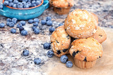 Blueberry Muffins and Berries